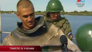 Под Волгоградом военные восстанавливали разрушенный «врагами» мост