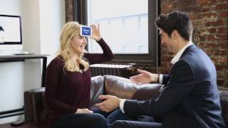 Drew Gehling and Betsy Wolfe play Heads Up: Waitress Edition!