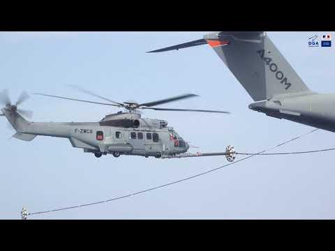 Un A400 realiza su primer contacto en seco con helicópteros H225M