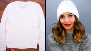 WINTER HACKS | Re-Purpose Your Old Sweaters! Sweater Hacks And More Incredible Hacks By Blossom
