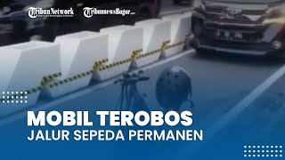 Viral Video Mobil Mewah Terobos Jalur Sepeda di Sudirman, Sudinhub: Kami Hanya Patroli Siang & Sore