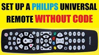 So richten Sie eine PHILIPS-Universalfernbedienung ohne Code ein