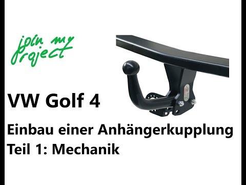 Anhängerkupplung am Golf 4 nachrüsten Teil 1   Einbau der Mechanik