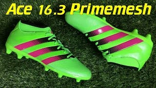 Adidas ACE 16.3 PrimeMesh Solar Green/Shock Pink/Black - Review + On Feet