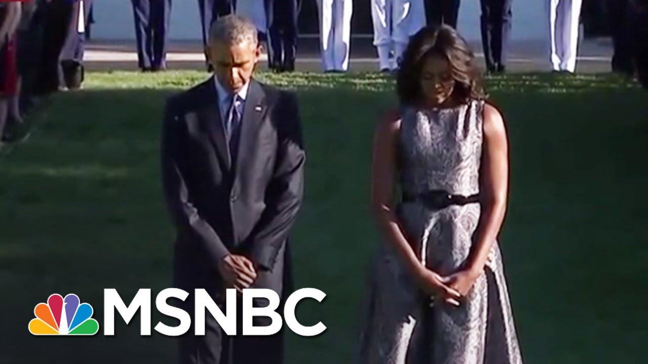 White House Commemorates Anniversary Of 9/11 | MSNBC thumbnail