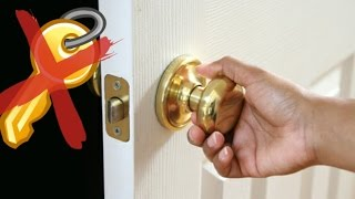 How To Open A Locked Door Without A Key !!!