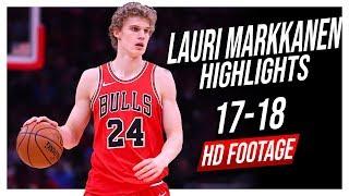 Bulls PF Lauri Markkanen 2017-2018 Season Highlights ᴴᴰ