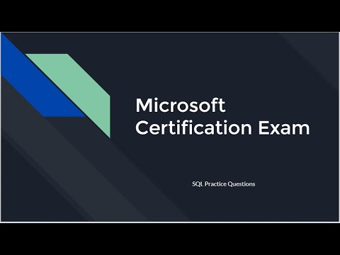 Microsoft Exam 98-364 - Database Fundamentals Exam Prep ...