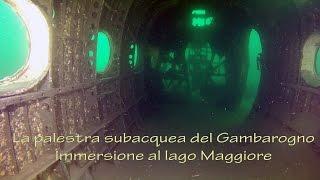 preview picture of video 'La palestra subacquea del Gambarogno - Immersione al lago Maggiore'