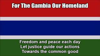 For The Gambia Our Homeland (National Anthem in Nightcore Style With Lyrics)