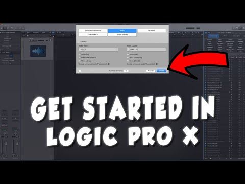 """""""Getting Started in Logic Pro X""""   Logic Pro X Tutorial For Beginners"""