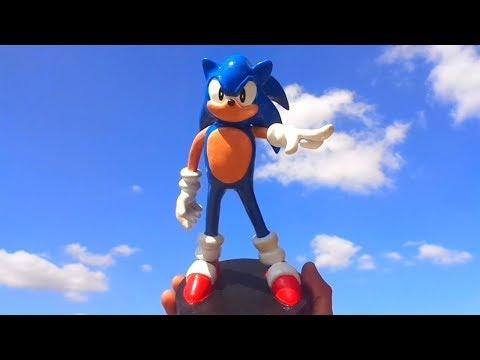 Miniatura do Sonic Boneco Modelado com Massa
