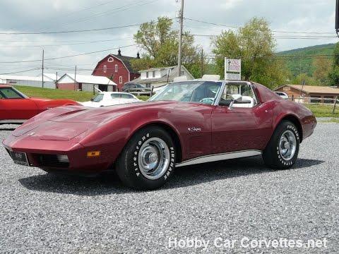 1974 Dark Red Corvette Stingray 4spd Video