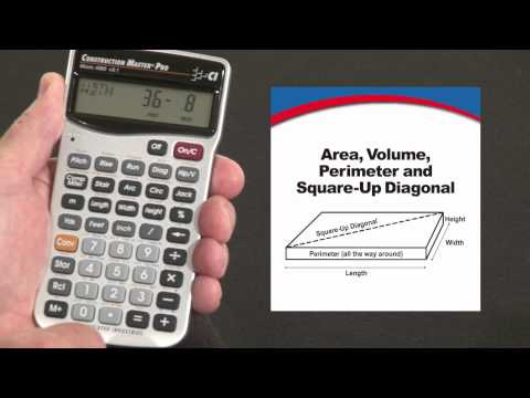 Construction Master Pro - Area, Volume, Square-up Diagonal