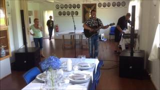 Soundcheck with K-array KR402 before a wedding-party