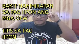 BAKIT NAHIHIRAPAN ANG MGA OFW MAG IPON.. TIPS SA PAG IIPON