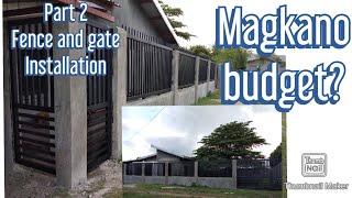 Magkano Budget Magpa Gawa Ng Fence/gate? #slidinggate #fence #ofwbudget #ofwhouse#simple Fence