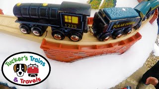 POLAR EXPRESS IN THE SNOW! Fun Toy Trains for Kids