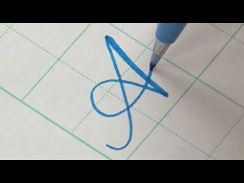 How to write Copperplate Calligraphy Alphabet with a Pentel Touch Brush Pen