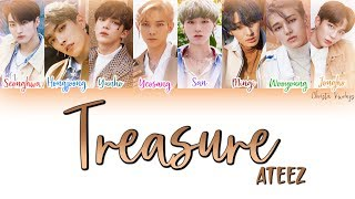 Gambar cover 에이티즈 (ATEEZ) – Treasure (Color Coded Lyrics   han, rom, eng)