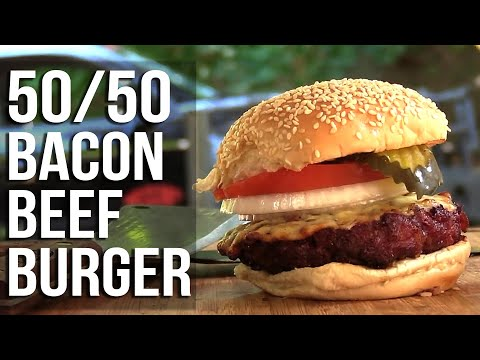 Beef and Bacon 50/50 Burgers recipe
