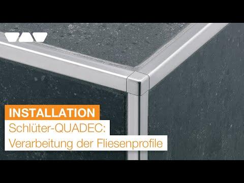 Kantenschutz für Fliesen: Schlüter®-QUADEC Abschlussprofile