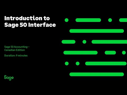 Canadian Edition - Introduction to Sage 50 Interface - YouTube