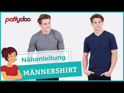T-Shirt mit Halsbündchen, Tasche und Flatlocknaht nähen