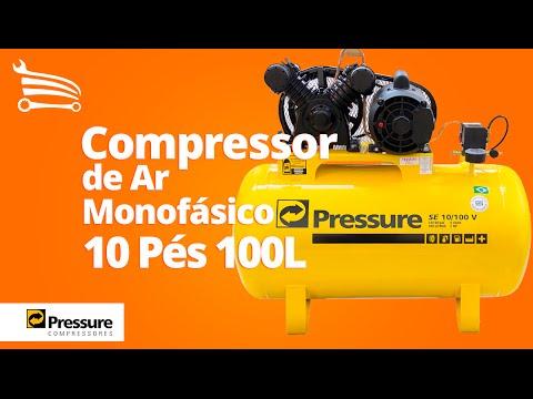Compressor de Ar 2CV 10 Pés 100 Litros 110/220V - Video