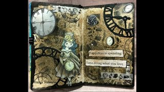 Happiness Art Journal page