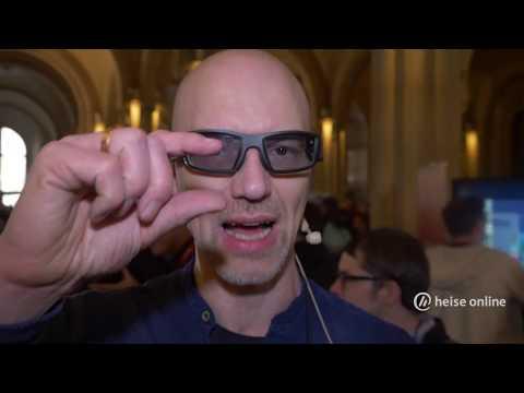 Aufgesetzt: Datenbrille Vuzix Blade mit integriertem Display