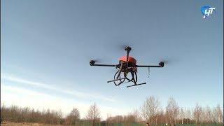 Новгородские школьники и студенты отработали технологию доставки грузов с помощью дронов