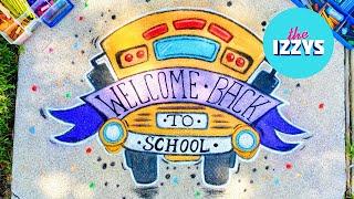 BACK TO SCHOOL! Let's Make a Back To School SIDEWALK CHALK MURAL!