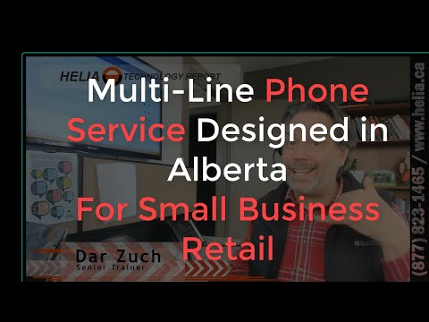 Multi-line Phone Service Designed in Alberta for Small Business Retail  - Cell Phone Switchboard