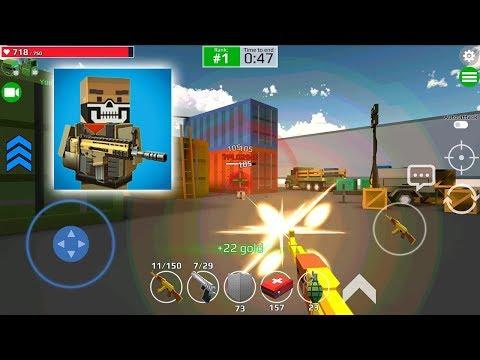 Pixel Grand Battle 3D AK-47 Gold Review Full Upgrade