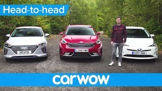 Toyota Prius vs Hyundai Ioniq vs Kia Niro 2018 review – what