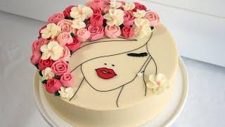 Floral Face Cake! - Cake Decorating