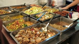 Thailand Street Food. Bangkok. The Stalls Along Phloen Chit and Siam Square