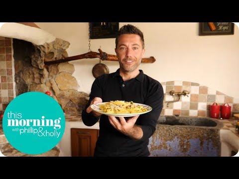Gino Cooks His Signature Carbonara in His Home in Sardinia   This Morning