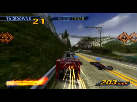 Burnout 3: Takedown Fire Truck Road Rage With F1 Cars (PCSX2 V1.5.0-dev2660 Gameplay)