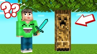 CREEPERS Are CAMOUFLAGED In MINECRAFT! (Find Them)
