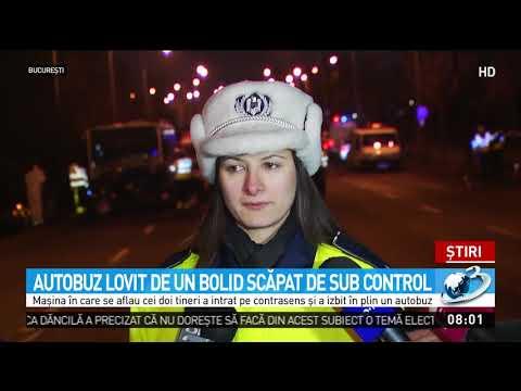 Accident grav în Capitală.Două persoane au murit după ce mașina în care se aflau a intrat în