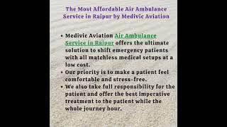 Book Medivic Aviation Air Ambulance Service in Jabalpur