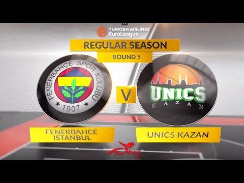 EuroLeague Highlights RS Round 5: Fenerbahce Istanbul 73-81 Unics Kazan