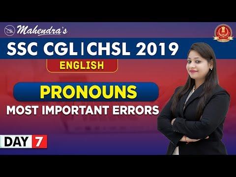 Pronoun | Important Rules | English | By Yashi Mahendras | SSC CGL | CHSL | 10:30 am