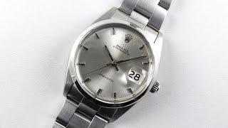 Steel Rolex Oyster Date Precision Ref. 6694 vintage wristwatch, dated 1966
