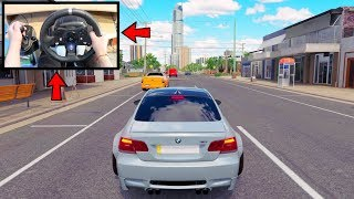 Forza Horizon 3 Drifting Like A BOSS (Steering Wheel + Shifter) BMW M3 E92 Widebody Kit Gameplay