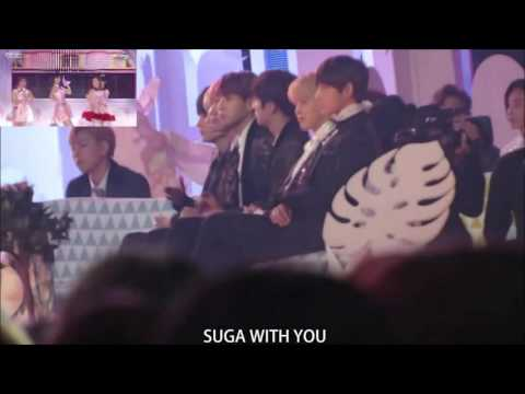 160114 SMA BTS and BtoB Reaction To Red Velvet Intro + Dumb