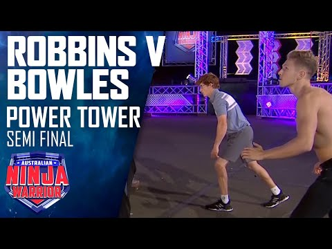 Matthew Bowles and Charlie Robbins face Power Tower | Australian Ninja Warrior 2020