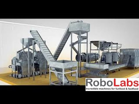 Download Robolabs commercial popcorn production line Mp4 HD Video and MP3